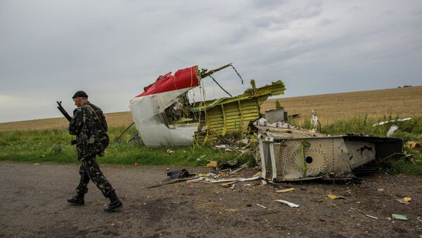 At the crash site of Malaysia Airlines flight MH17 in Ukraine - Sputnik International