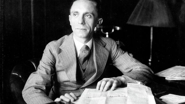 Joseph Goebbels, Third Reich Commissioner for Radio and Propaganda, is shown in the 1930s. - Sputnik International
