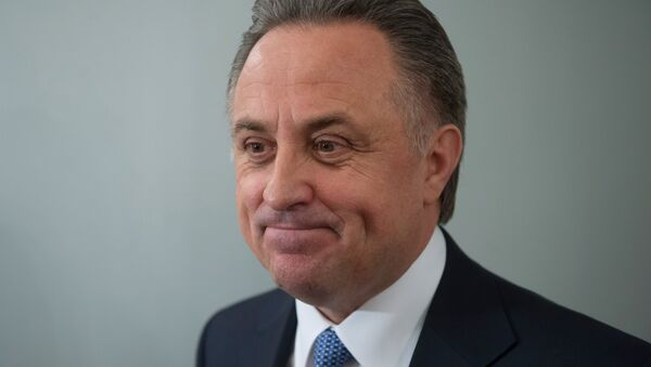 Russian Minister of Sport Vitaly Mutko before a Kremlin meeting of the Presidential Council on Physical Fitness and Sports - Sputnik International