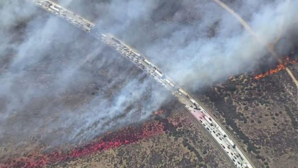Cajon Pass wildfire - Sputnik International
