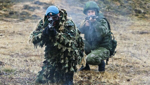 Exercises of  Russian airborne troops - Sputnik International