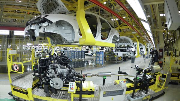 US auto giant General Motors Buick cars being assembled at Wuhan auto plant in Wuhan, central China's Hubei province - Sputnik International
