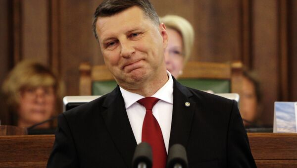 Raimonds Vejonis following his inauguration ceremony - Sputnik International
