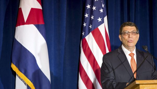 Cuban Foreign Minister Bruno Rodriguez speaks during a ceremony to reopen the Cuban embassy in Washington, July 20, 2015. - Sputnik International