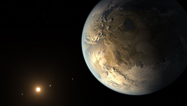 This artist's concept depicts Kepler-186f , the first validated Earth-size planet to orbit a distant star in the habitable zone. - Sputnik International