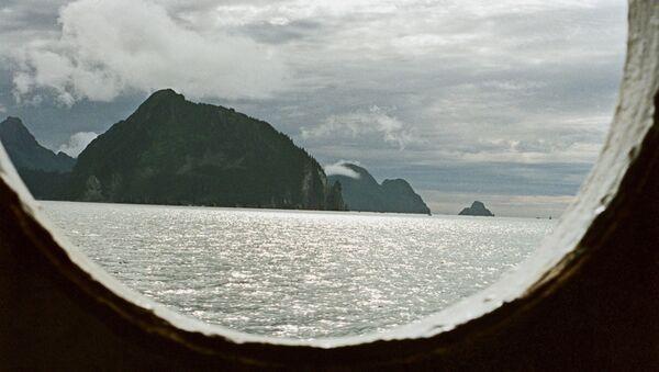 View of Alaska from porthole - Sputnik International