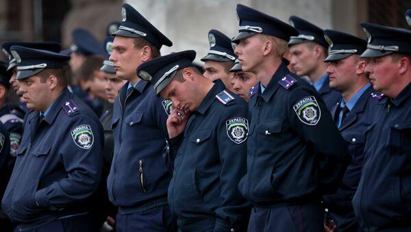 Police troops guard in Odessa, Ukraine - Sputnik International