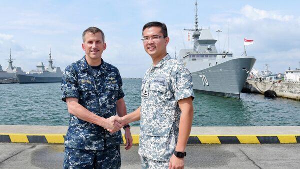 Joint-naval exercise in Singapore - Sputnik International