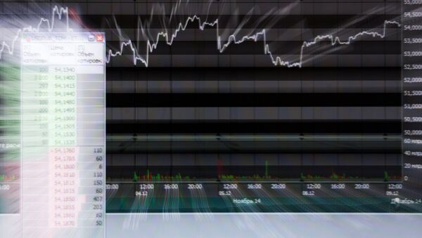 Screen at the MICEX, the Moscow Interbank Currency Exchange - Russian Trading System - Sputnik International