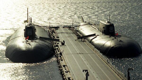 Moored nuclear-powered missile submarines - Sputnik International