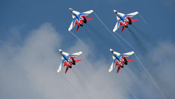 MiG-29 fighter planes of the Swifts aerobatic team - Sputnik International