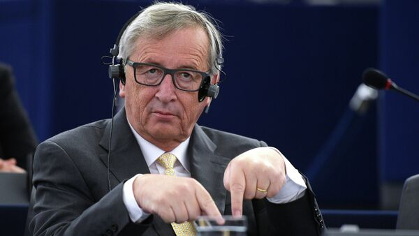 European Commission President Jean-Claude Juncker gestures as he attends a debate during a plenary session of the European Parliament on the consequences of the Greek referendum result, on July 7, 2015 in Strasbourg - Sputnik International