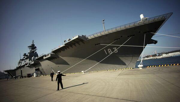 Destroyer Izumo of Japan's Maritime Self-Defense Force (JMSDF) in Yokosuka, south of Tokyo - Sputnik International