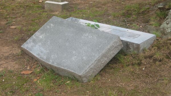 Fallen Gravestone. - Sputnik International