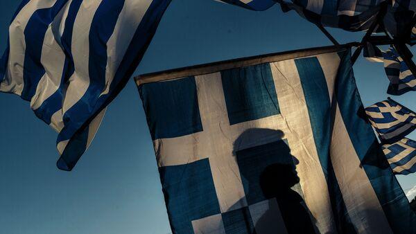 Greek ANT1 TV employees continue their protest against recent mass layoffs - Sputnik International