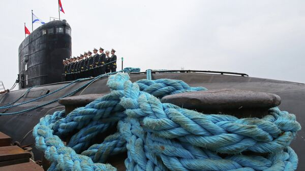A Project 636 Varshavyanka diesel-electric submarine built for the Vietnamese Navy at the shipyard in Svetly, Kaliningrad region. - Sputnik International