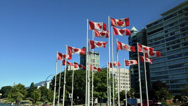 Canadian flags - Sputnik International
