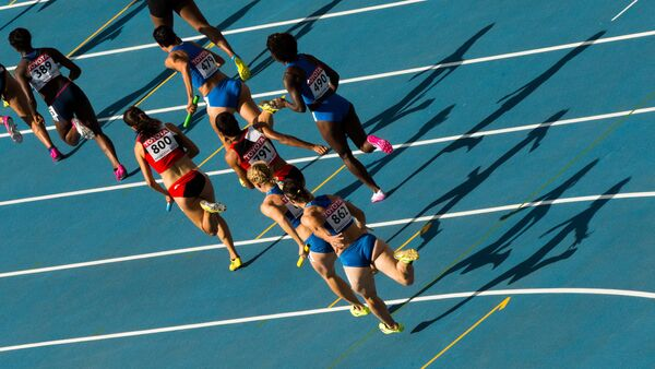Athletes in the women's relay race at the World Championships in Athletics. (File) - Sputnik International