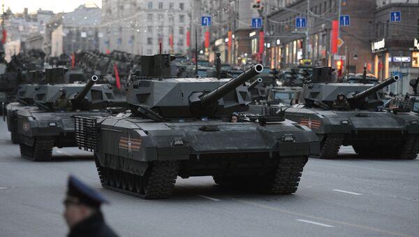 T-14 tanks with the Armata Universal Combat Platforms - Sputnik International