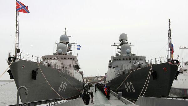 Missile ships of the Caspian Flotilla - Sputnik International