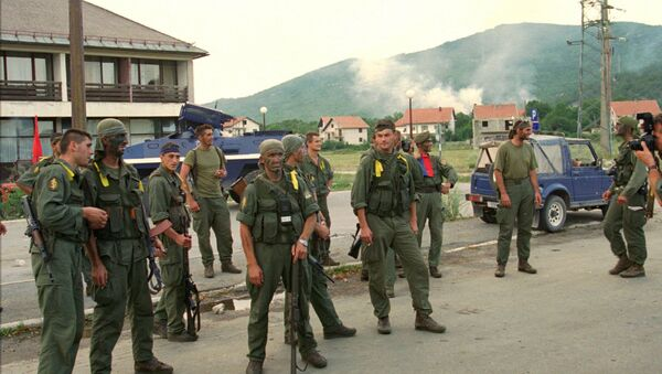 A Croatian special forces unit rest after their action in the operation named Storm, in which they retook the Croat town of Gracac 160kms (100mls) south of Zagreb , Monday August 7th 1995 - Sputnik International