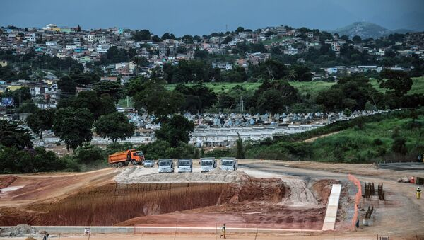 View of the Deodoro Olympic Park under construction, which will host several sports during the Rio 2016 Olympics Games, in Rio, Brazil, on April 2, 2015 - Sputnik International