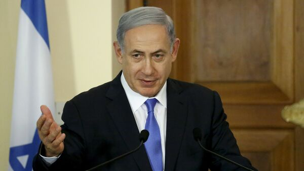 Israeli Prime Minister Benjamin Netanyahu speaks during a news conference at the presidential palace in capital Nicosia, Cyprus, July 28, 2015 - Sputnik International
