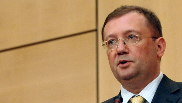 Deputy Foreign for Foreign Affairs Alexander V. Yakovenko delivers a speech 20 June 2006 during the second day of two-week session of the United Nations Human Rights Council in Geneva - Sputnik International