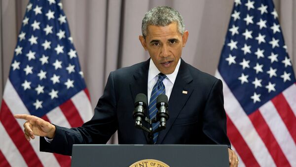 President Barack Obama speaks about the nuclear deal with Iran, Wednesday, Aug. 5, 2015, at American University in Washington - Sputnik International