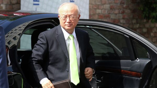 Director General of the International Atomic Energy Agency, IAEA, Yukiya Amano of Japan arrives at the Palais Coburg where closed-door nuclear talks with Iran take place in Vienna, Austria, Tuesday, June 30, 2015 - Sputnik International