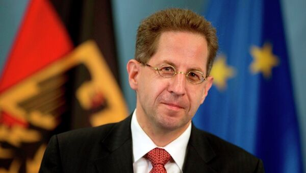 President of Germany's intelligence agency (German Verfassungsschutz), Hans-Georg Maassen, poses during a ceremony where he received the letter of appointment in Berlin, Germany, Wednesday, Aug. 1, 2012. - Sputnik International