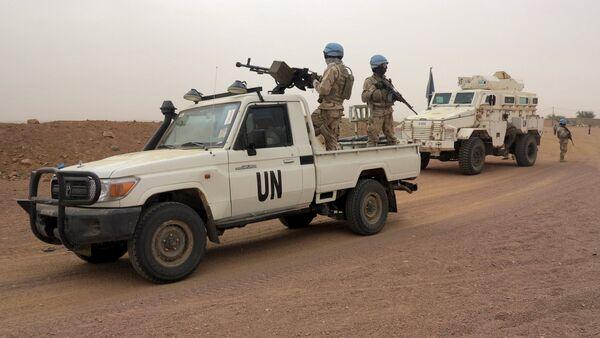 UN peacekeepers patrol in Kidal, Mali - Sputnik International