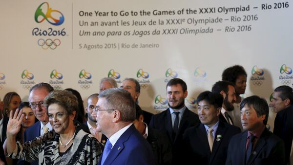 A ceremony of the one year countdown to host the Rio 2016 Olympic Games in Rio de Janeiro, Brazil, August 5, 2015. - Sputnik International