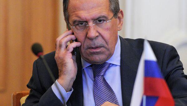 Russian Foreign Minister Sergey Lavrov speaks on the phone - Sputnik International