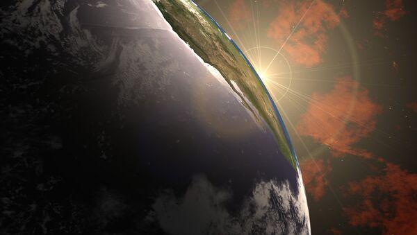 Earth with Sun flare - Sputnik International