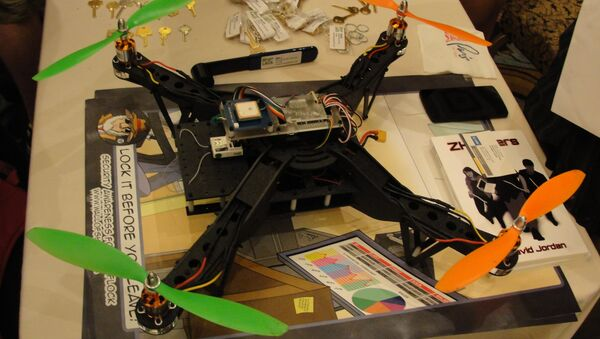 An Aerial Assault drone is displayed during a Def Con hacker gathering August 9, 2015 in Las Vegas - Sputnik International