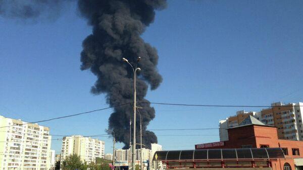 fire of the Moskva River - Sputnik International