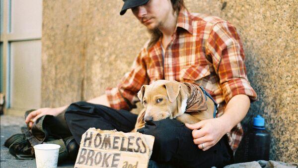 Homeless, Broke, and Hungry in Manhattan, New York - Sputnik International