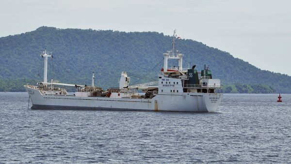 Thai-owned cargo ship Silver Sea 2 is anchored off an Indonesian Navy base in Sabang, Aceh province, Indonesia. - Sputnik International