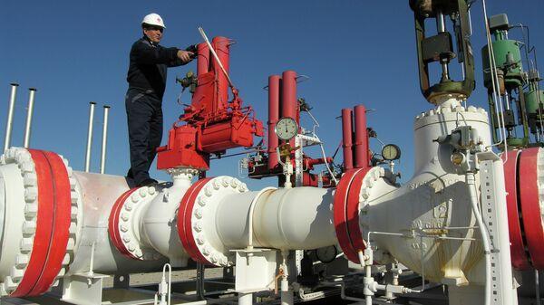 Gas pipeline worker checks the valves at the Yapracik installations of Turkey's state-run BOTAS gas company on the outskirts of Ankara - Sputnik International
