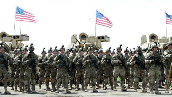 Soldiers of the US mechanized infantry company from the 1st Brigade, 3rd Infantry Division - Sputnik International