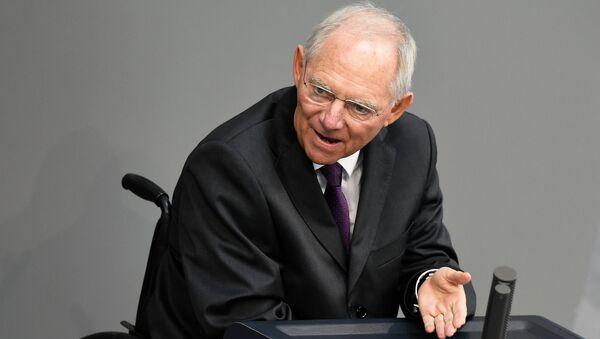 Germany's Finance Minister Wolfgang Schauble - Sputnik International
