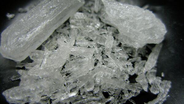 Pure shards of methamphetamine hydrochloride, also known as crystal meth - Sputnik International