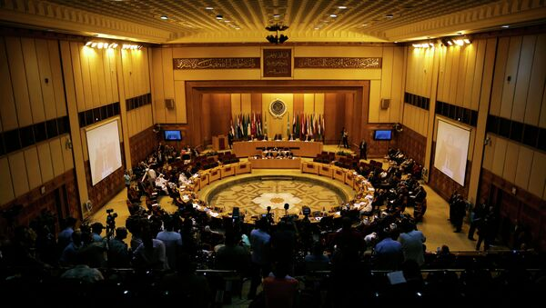 Representatives of the Arab League attend the Arab Initiative follow-up committee at the Arab League headquarters in Cairo, Egypt, Wednesday, Aug. 5, 2015 - Sputnik International