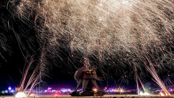 Burning Man Participants Being Bitten by Bloodthirsty Bugs - Sputnik International