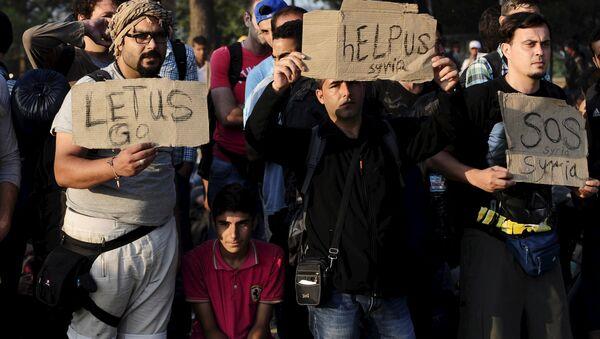 Macedonia migrants - Sputnik International