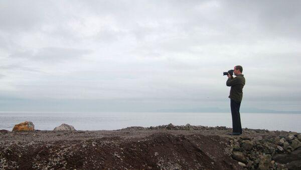 Prime Minister Medvedev visits Far Eastern Federal District. Kuril Islands - Sputnik International