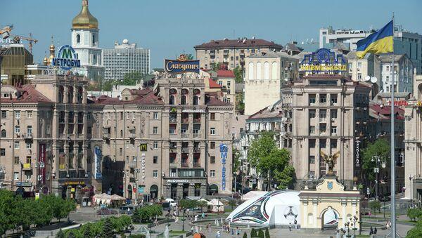 View of the Independence square in Kiev - Sputnik International