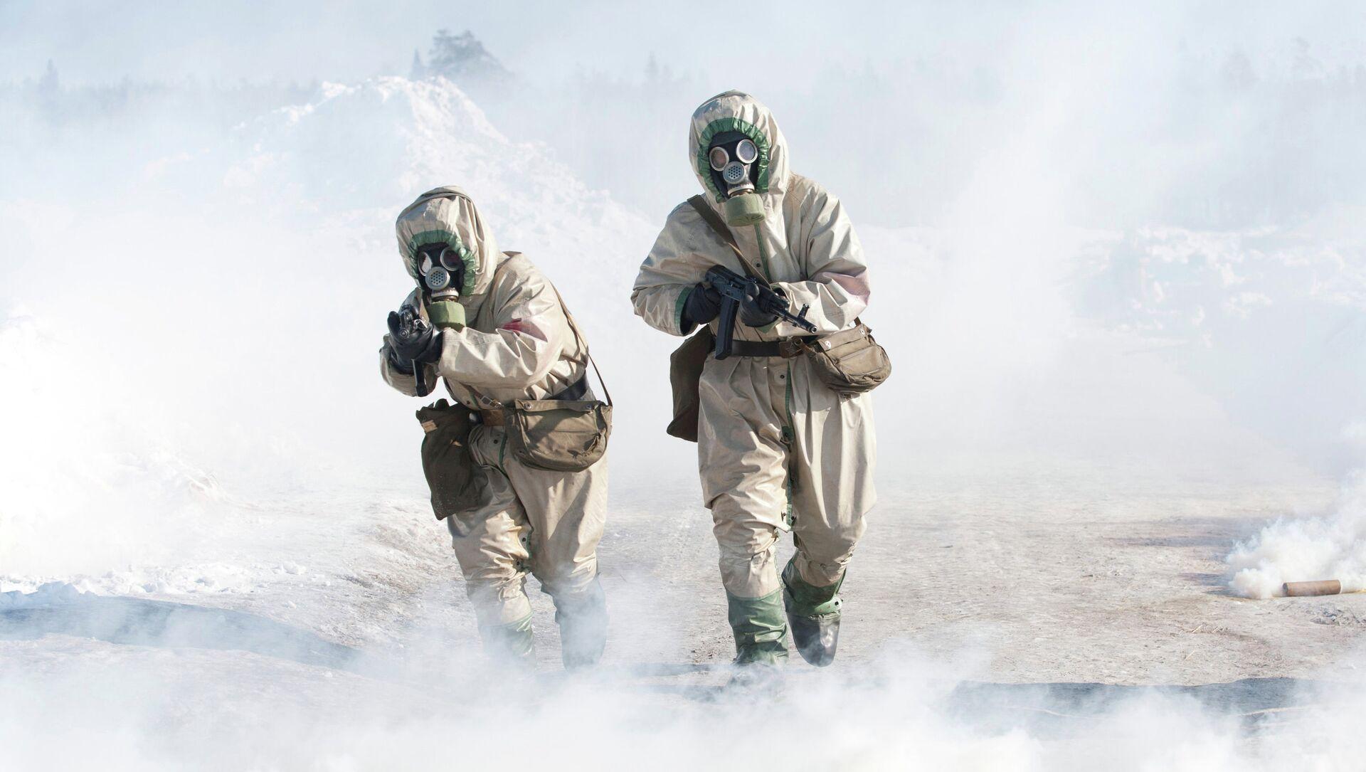 Drills for Radiological, Biological and Chemical Defence Troops - Sputnik International, 1920, 17.08.2021