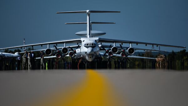 An Ilyushin 76 aircraft during the final rehearsal of the opening of the MAKS 2015 International Aviation and Space Salon. - Sputnik International